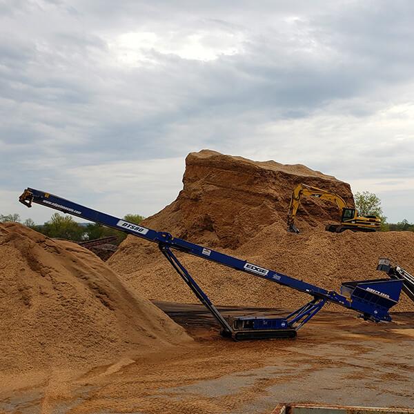 Spring Valley Mulch Conveyor Loading
